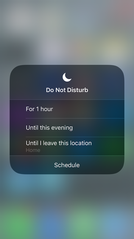 iOs 12 Do Do Disturb